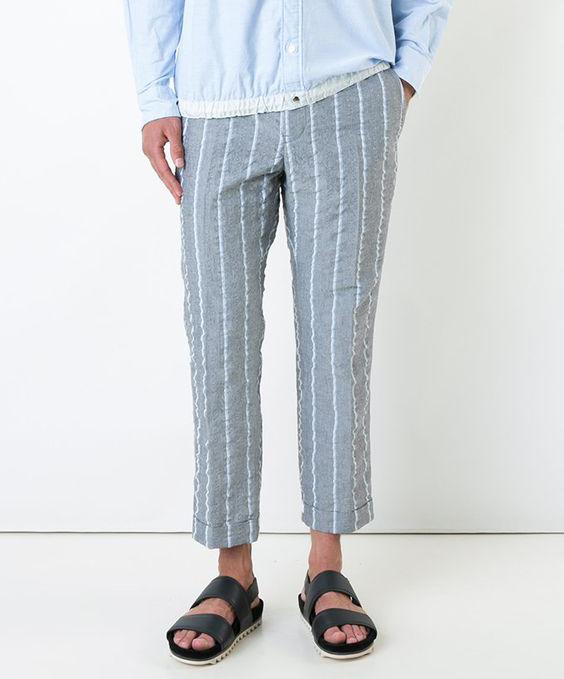 Cropped linen pajamas