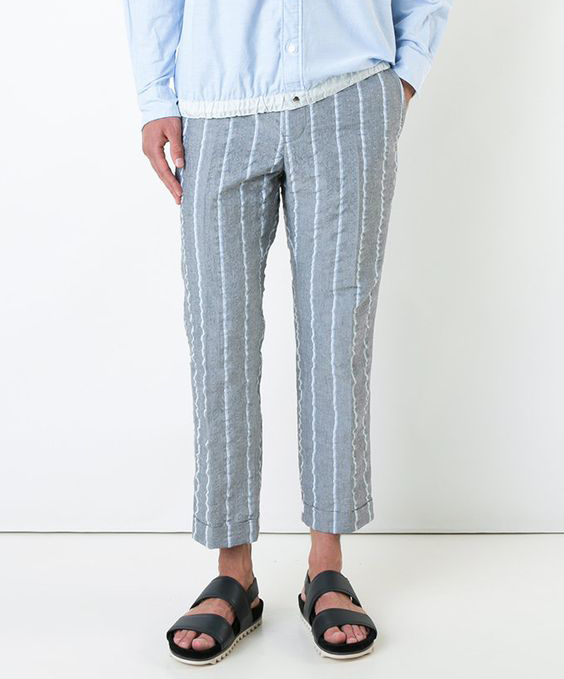 Cropped linen pajamas