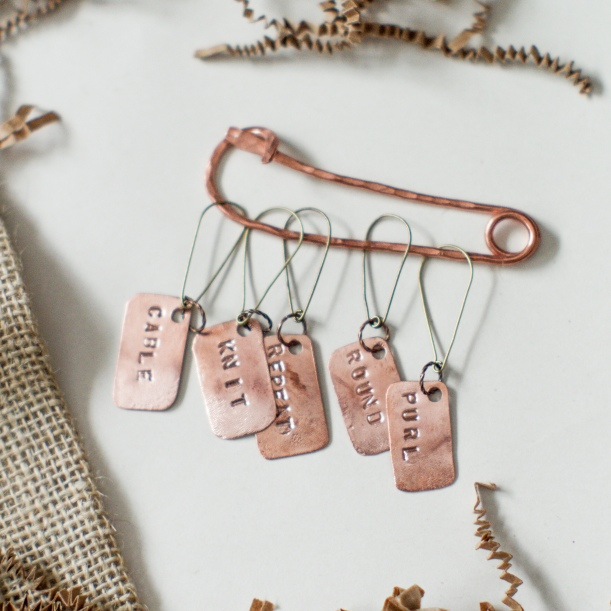 Copper Stitch Markers Knitting-2.jpg