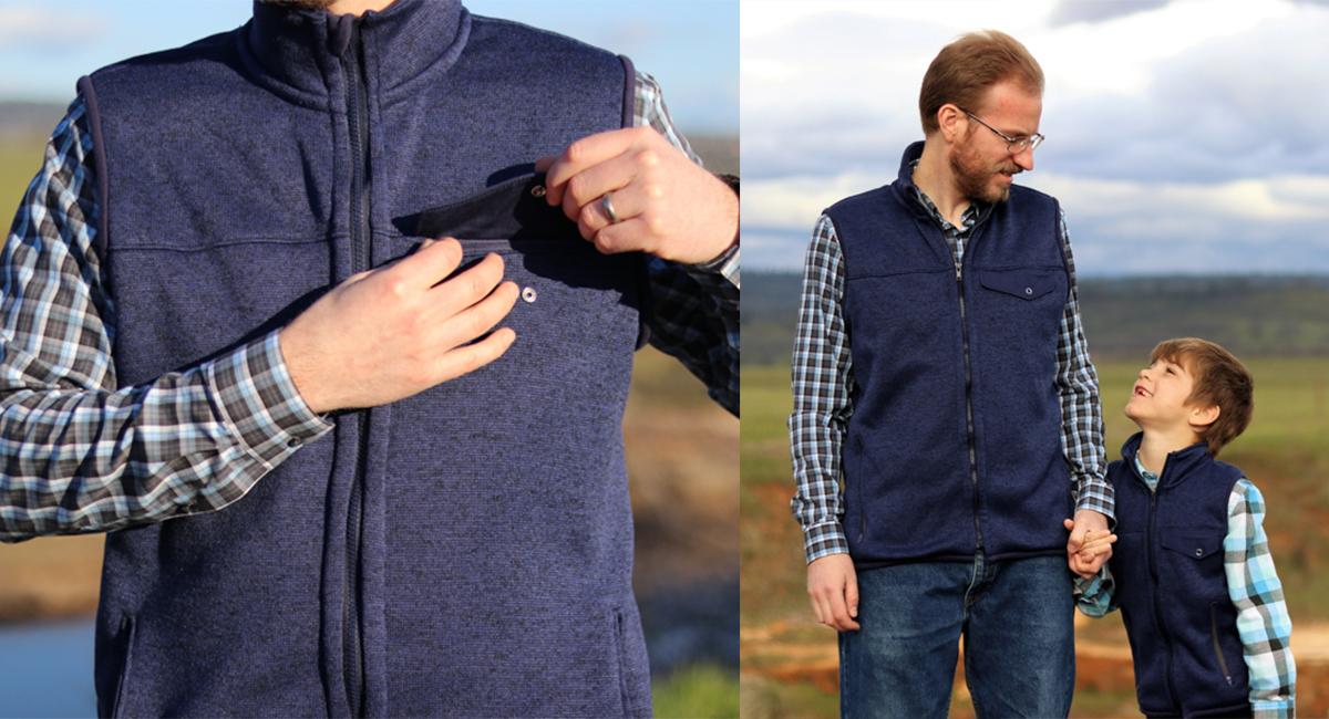 redwood fleece vest